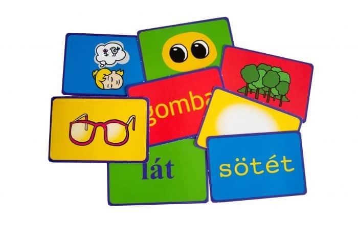 szókártyás mesekönyv