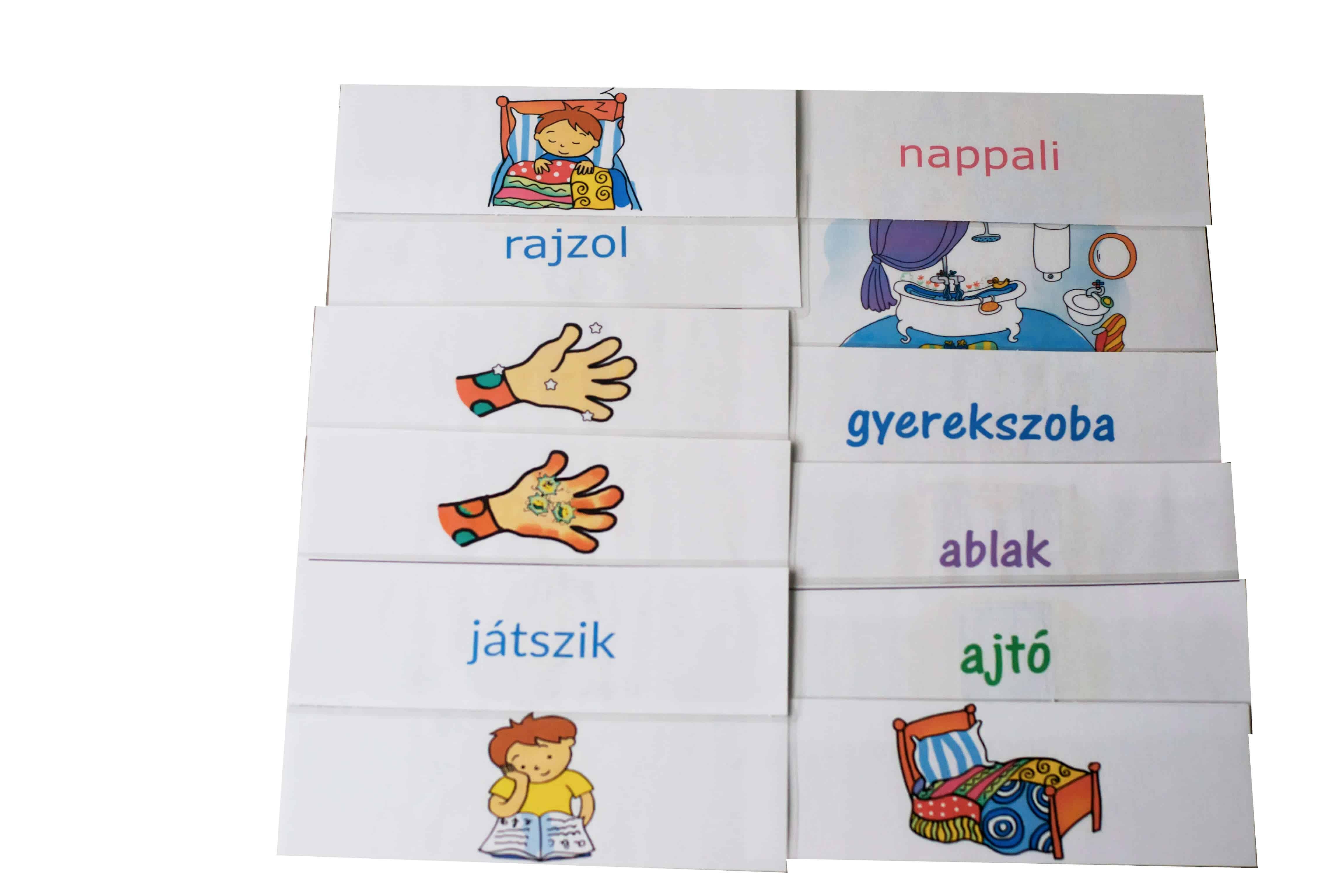 lakásban szókártyák