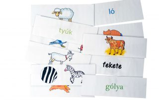 állatok szókártyák