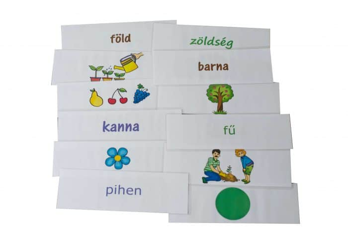 kertben szókártyák